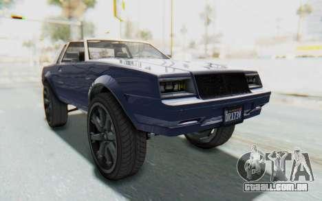 GTA 5 Willard Faction Custom Donk v3 IVF para GTA San Andreas vista direita