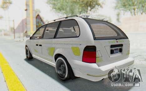 GTA 5 Vapid Minivan Custom without Hydro para GTA San Andreas interior