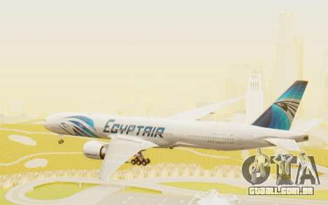 Boeing 777-300ER EgyptAir para GTA San Andreas vista direita