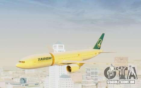 Boeing 777-200 TAROM Romania para GTA San Andreas traseira esquerda vista