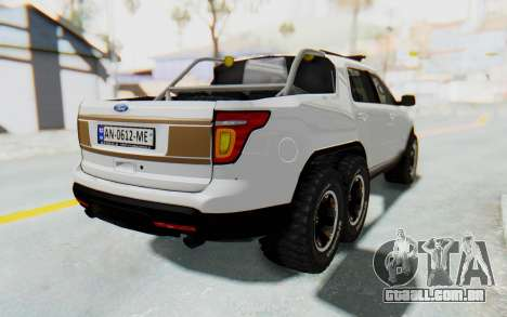 Ford Explorer Pickup para GTA San Andreas esquerda vista