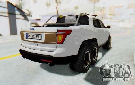Ford Explorer Pickup para GTA San Andreas esquerda vista