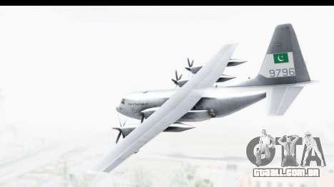 C-130 Pakistan para GTA San Andreas esquerda vista
