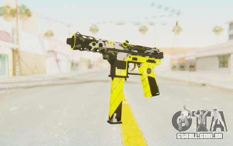 Tec-9 Neural Yellow para GTA San Andreas