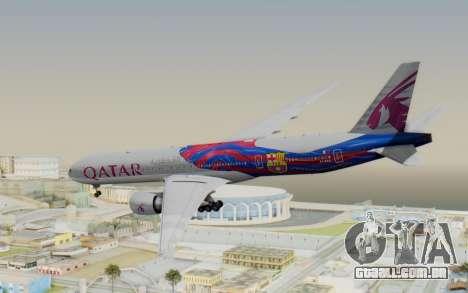 Boeing 777-300ER Qatar Airways v2 para GTA San Andreas esquerda vista