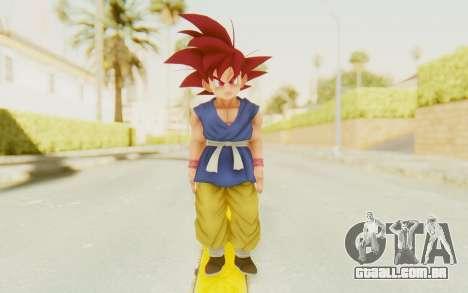 Dragon Ball Xenoverse Goku Kid GT SSG para GTA San Andreas segunda tela