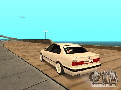 BMW E34 - EK edition para GTA San Andreas traseira esquerda vista