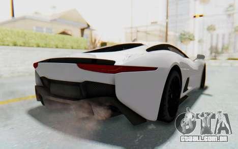 Jaguar C-X75 para GTA San Andreas traseira esquerda vista