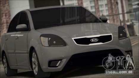 Kia Rio para GTA San Andreas vista traseira