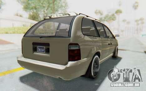 GTA 5 Vapid Minivan Custom without Hydro IVF para GTA San Andreas vista direita