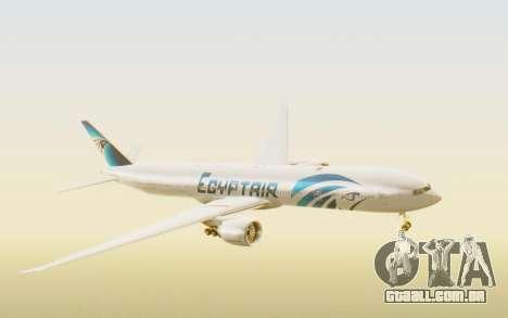 Boeing 777-300ER EgyptAir para GTA San Andreas traseira esquerda vista