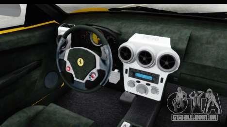 Ferrari F430 SVR para GTA San Andreas vista interior
