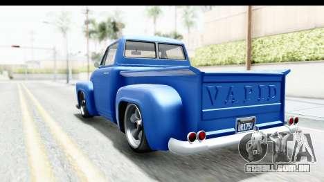 GTA 5 Vapid Slamvan without Hydro IVF para GTA San Andreas traseira esquerda vista