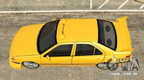 GTA 5 Taxi Peugeot 406 voltar vista