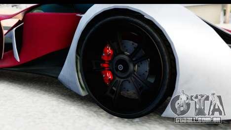 GTA 5 Grotti X80 Proto SA Lights para GTA San Andreas vista traseira