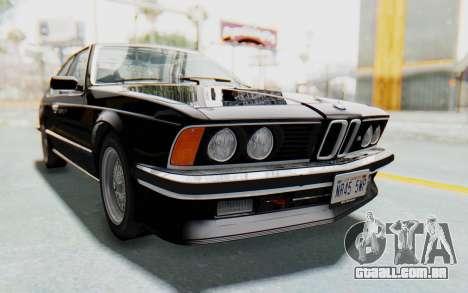 BMW M635 CSi (E24) 1984 IVF PJ3 para GTA San Andreas vista direita