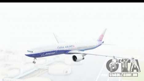 Boeing 777-300ER China Airlines Dreamliner para GTA San Andreas traseira esquerda vista