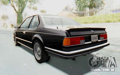 BMW M635 CSi (E24) 1984 IVF PJ3 para GTA San Andreas esquerda vista