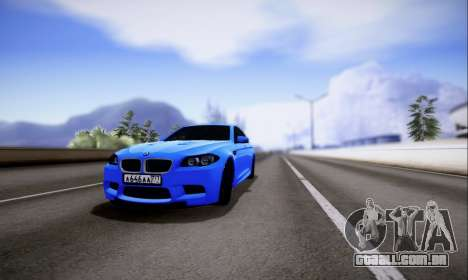 BMW M5 F10 G-Power para GTA San Andreas esquerda vista