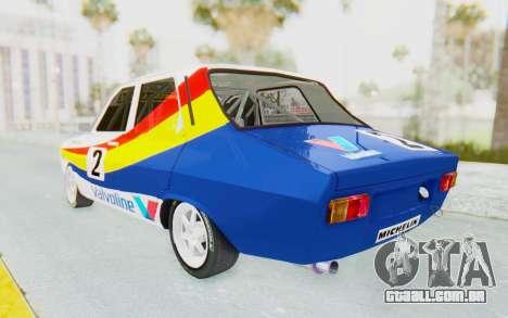Dacia 1300 Rally para GTA San Andreas traseira esquerda vista
