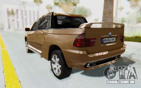 BMW X5 Pickup para GTA San Andreas esquerda vista