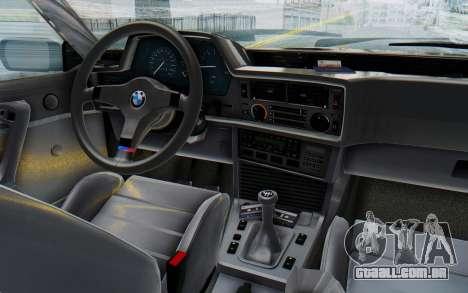 BMW M635 CSi (E24) 1984 IVF PJ3 para GTA San Andreas vista interior
