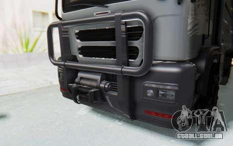 GTA 5 HVY Brickade IVF para GTA San Andreas vista interior