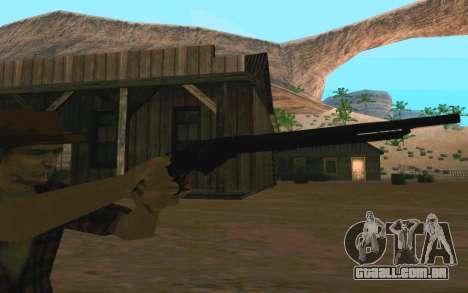 Winchester Model 1887 para GTA San Andreas por diante tela