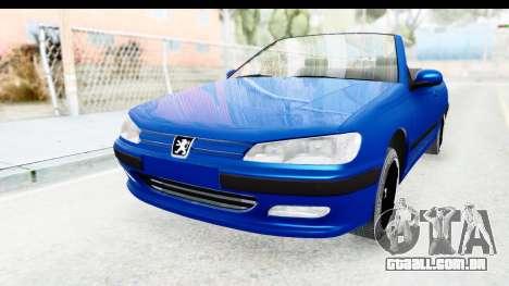 Peugeot 406 Cabrio Beta 0.8.3 para GTA San Andreas traseira esquerda vista