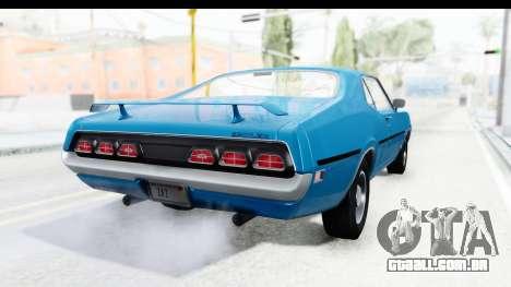 Mercury Cyclone Spoiler 1970 para GTA San Andreas esquerda vista