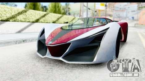 GTA 5 Grotti X80 Proto SA Lights para GTA San Andreas