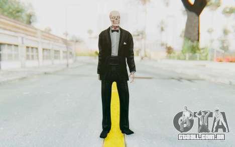 Skeleton in Tuxedo para GTA San Andreas segunda tela