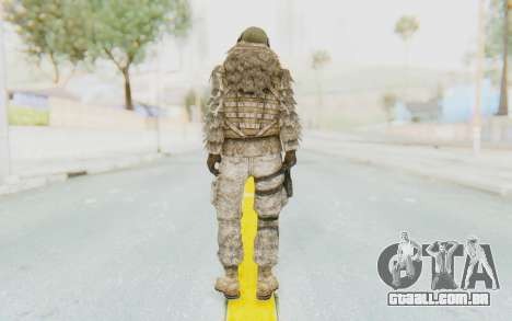 COD MW2 Ghost Sniper Desert Camo para GTA San Andreas terceira tela
