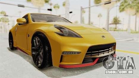 Nissan 370Z Nismo Z34 para GTA San Andreas vista direita