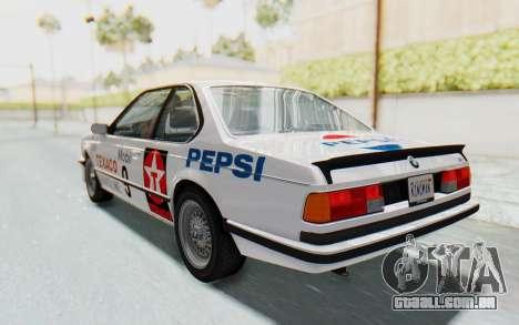 BMW M635 CSi (E24) 1984 IVF PJ2 para o motor de GTA San Andreas