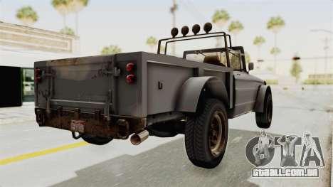 GTA 5 Canis Bodhi Trevor IVF para GTA San Andreas esquerda vista