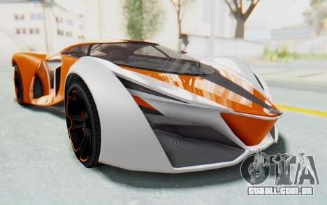 GTA 5 Grotti Prototipo v1 IVF para GTA San Andreas traseira esquerda vista