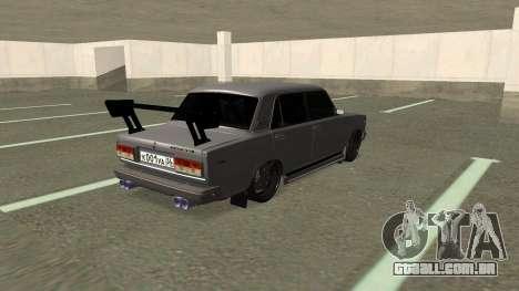 VAZ 2107 Deriva para GTA San Andreas traseira esquerda vista