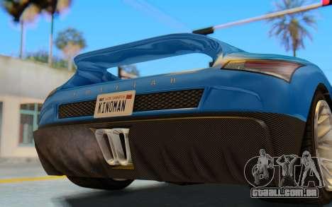 GTA 5 Grotti Cheetah SA Lights para GTA San Andreas vista interior