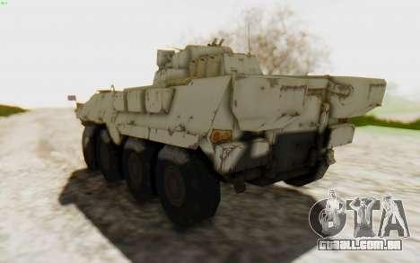 MGSV Phantom Pain STOUT IFV APC Tank v2 para GTA San Andreas vista direita