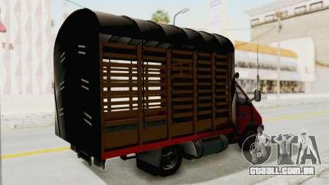 Gazela 33021 Caneta Colômbia para GTA San Andreas traseira esquerda vista