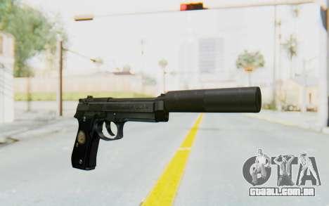 Tariq Iraqi Pistol Back v1 Black Silenced para GTA San Andreas