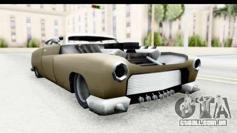 Hermes Ratrod para GTA San Andreas traseira esquerda vista