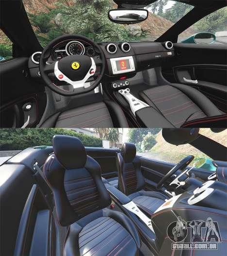 GTA 5 Ferrari California Autovista [add-on] volante
