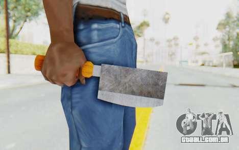 Butcher Knife para GTA San Andreas terceira tela