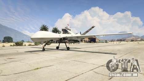 MQ-9 Reaper UAV 1.1 para GTA 5