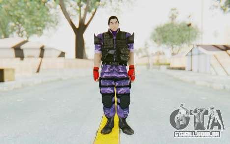 Kazuya Mishima (Ops Suit) para GTA San Andreas segunda tela