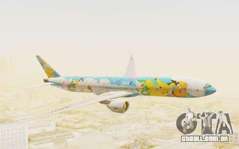 Boeing 777-300ER ANA JA754A - Peace Jet para GTA San Andreas traseira esquerda vista