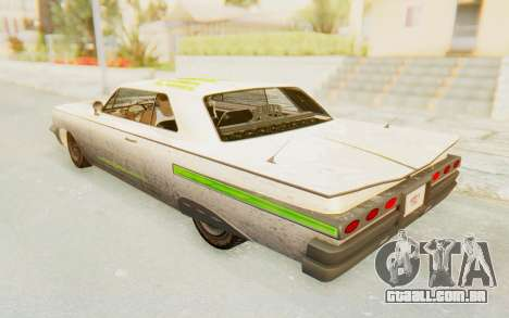 GTA 5 Declasse Voodoo PJ SA Lights para GTA San Andreas vista superior