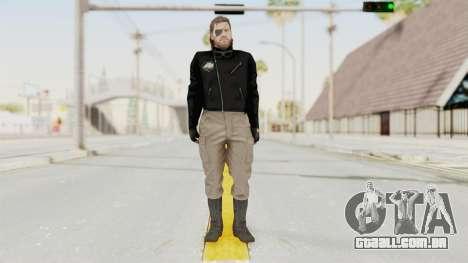 MGSV Phantom Pain BIG BOSS Leather Jacket para GTA San Andreas segunda tela
